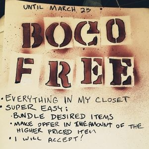 BOGO FREE Sale on everything until March 25!